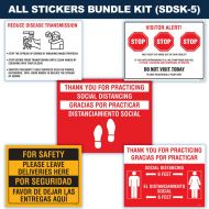 Social Distancing Sticker Kits