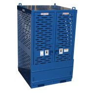 Cylinder Storage Cage with Firewall, 20 Cylinders