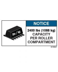 2400 LBS Capacity Label