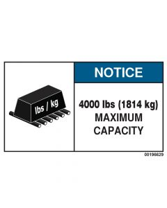 4000 LBS Capacity Label