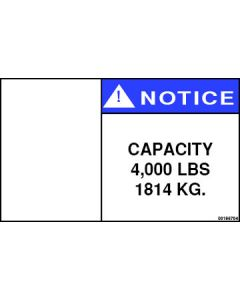 4,000 lbs Capacity Label