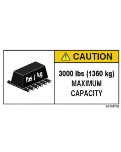 3000 LBS Capacity Label