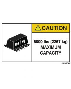 5000 LBS Capacity Label