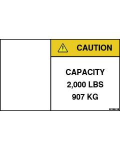2,000 lb Capacity Label