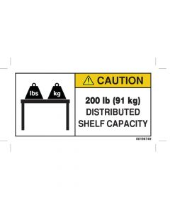 200 LBS Capacity Label
