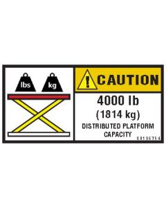 4000 lb Capacity Label