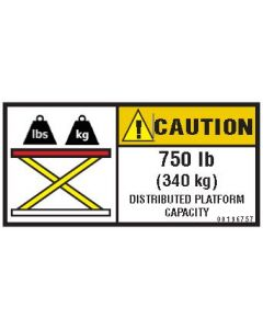 750 lb Capacity Label
