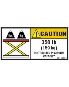 350 lb Capacity Label