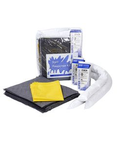 Oil Selective Vehicle Spill Kit in a Clear Vinyl Bag