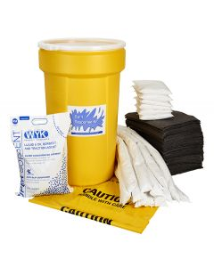 Universal Spill Kit in a 55 gallon drum