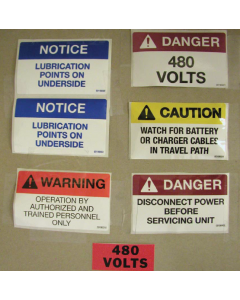 BATTERY EXTRACTOR SAFETY LABEL KIT