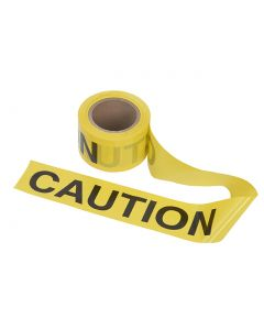 """Tape - Caution 3"""" x 1000'  Roll - Yellow with Black Print"""