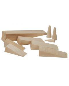 Wooden Plug Kit - 9 Per Kit - 6 Wedges & 3 Plugs