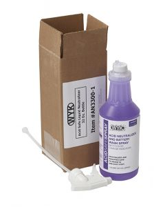 AcidSafe Battery Wash/Indicating - Sprayer Neutralizer Spray-32oz bottle w/ Trigger Sprayer In Shipper Box