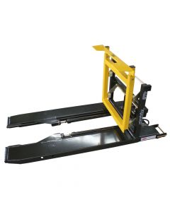 Forward Bin Tipper Forklift Attachment