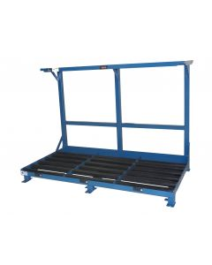 """Forklift Battery System Stand, (3) 21"""" Compartments"""