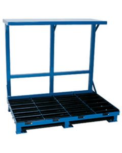 """Forklift Battery System Stand, (2) 42"""" Compartments"""