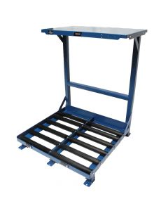 """Forklift Battery Stand, Single Level, Two 12"""" Compartments"""