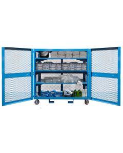 """PPE Storage Cart, 70""""W x 27""""D x 60""""H (5,000 lb)"""