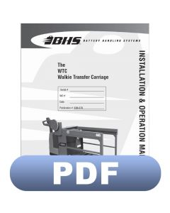 WTC - Walkie Transfer Carriage Installation & Operation Manual
