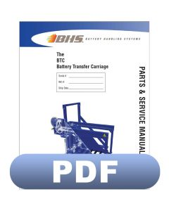 BTC - Battery Transfer Carriage Parts & Service Manual