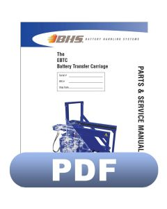 EBTC Battery Transfer Carriage Parts & Service Manual