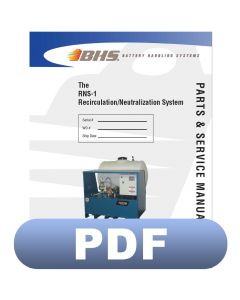 RNS-1 Recirculation/Neutralization System Parts & Service Manual