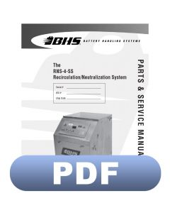 RNS-4-SS Recirculation/Neutralization System Parts & Service Manual