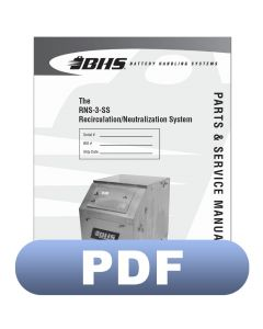 RNS-3-SS Recirculation/Neutralization System Parts & Service Manual