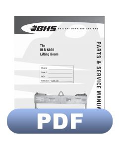 BLB-6000 Lifting Beam Parts & Service Manual