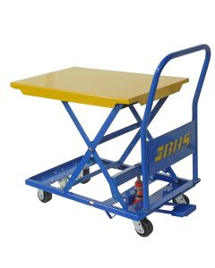 Manual mobile lift table with 350 lb capacity