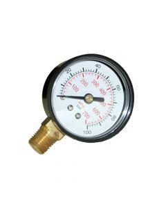 Gauge, 100 psi Pressure