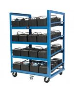 Automotive Battery Rack with Casters