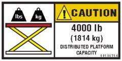 4000 lb Capacity Label