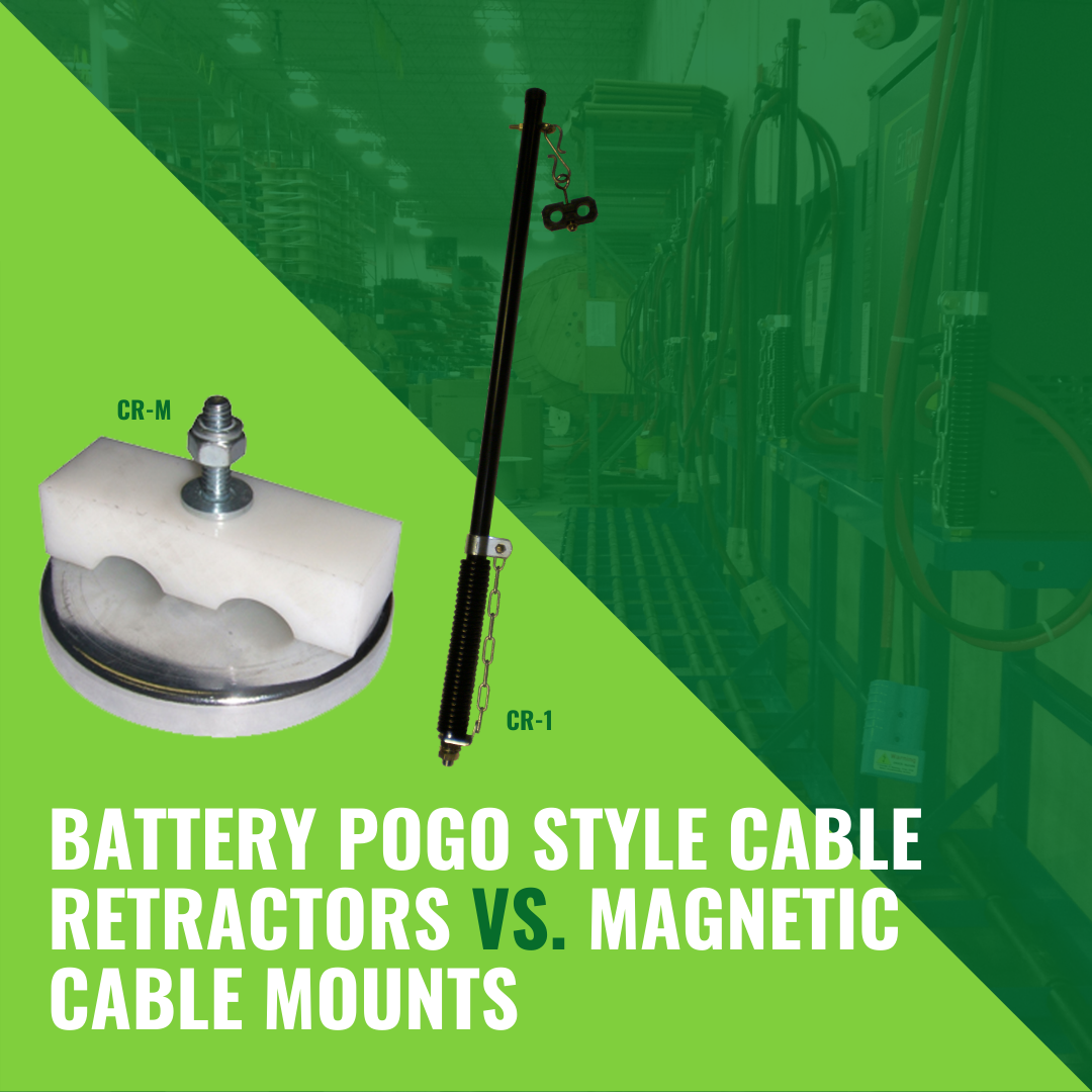 Battery Pogo Style Cable Retractors vs. Magnetic Cable Mounts
