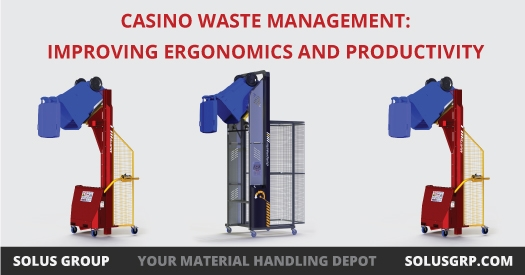 Bin Tippers help casino workers ergonomically handle trash, recycling, and compost.