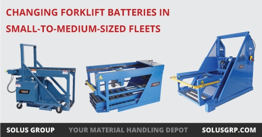 Changing Forklift Batteries