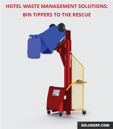 The Multi-Tip Bin Tipper provides a solution for hotel waste management.