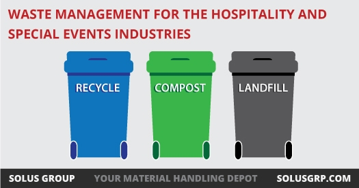 Bin Tippers as a solution for waste management for the hospitality and special events industries